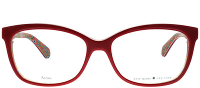 Kate Spade KS Jodiann/F XSU Cat-Eye Plastic Burgundy/ Red Eyeglasses with Demo Lens