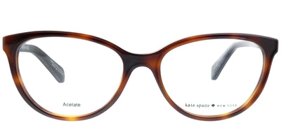 Kate Spade KS Kassia CRX Cat-Eye Plastic Tortoise/ Havana Eyeglasses with Demo Lens