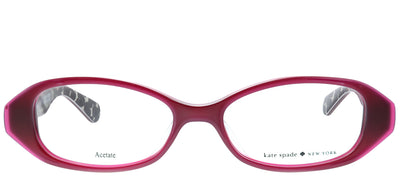 Kate Spade KS Lisann/F S4P Oval Plastic Burgundy/ Red Eyeglasses with Demo Lens