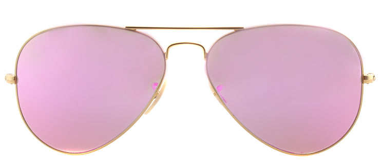 Ray-Ban RB 3025 112/4T Aviator Metal Gold Sunglasses with Pink Mirror Lens