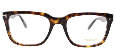 Tom Ford FT 5304 052 Square Plastic Brown Eyeglasses with Demo Lens
