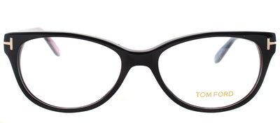Tom Ford FT 5292 005 Round Plastic Black Eyeglasses with Demo Lens
