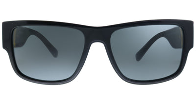Versace VE 4369 GB1/87 Rectangle Plastic Black Sunglasses with Grey Lens