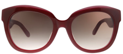 Kate Spade KS Amberly/F/S OFH Cat-Eye Plastic Burgundy/ Red Sunglasses with Brown Gradient Lens