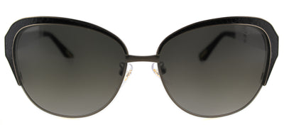 Lanvin SLN 035M 448 Cat-Eye Metal Black Sunglasses with Grey Gradient Lens