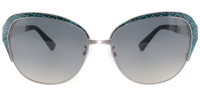 Lanvin SLN 035M K20 Cat-Eye Metal Ruthenium/ Gunmetal Sunglasses with Grey Gradient Lens