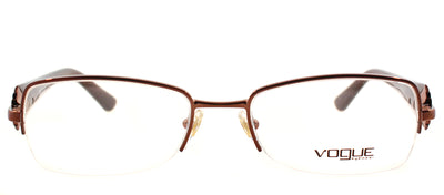 Vogue Eyewear VO 3864B 811 Semi-Rimless Metal Black Eyeglasses with Demo Lens