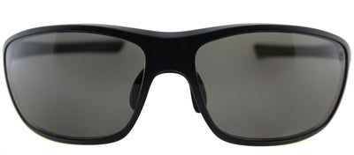 TAG Heuer TAG 6023 103 Sport Plastic Black Sunglasses with Grey Polarized Lens
