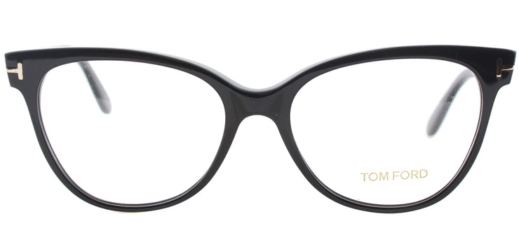 Tom Ford FT 5291 001 Cat-Eye Plastic Black Eyeglasses with Demo Lens