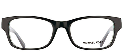 Michael Kors MK 8001 3001 Rectangle Plastic Black Eyeglasses with Demo Lens