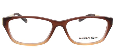 Michael Kors MK 8009 3044 Rectangle Plastic Brown Eyeglasses with Demo Lens