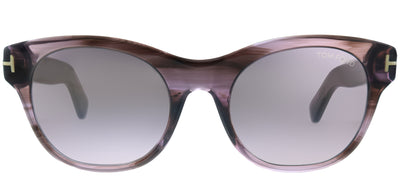 Tom Ford TF 532 83Z Square Plastic Purple Sunglasses with Violet Lens