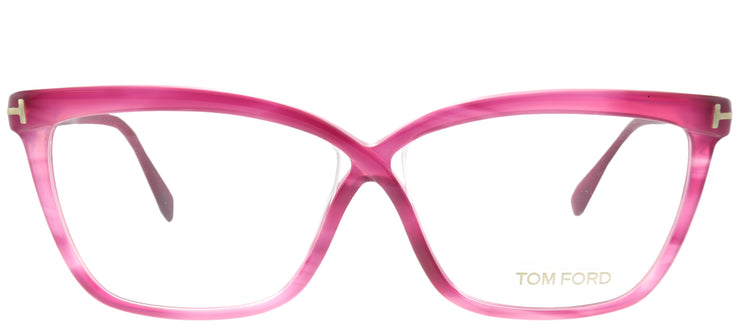 Tom Ford FT 4267 077 Cat-Eye Plastic Pink Eyeglasses with Demo Lens