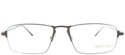 Tom Ford FT 5202 049 Rectangle Metal Ruthenium/ Gunmetal Eyeglasses with Demo Lens