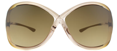 Tom Ford Whitney TF 9 74F Fashion Plastic Pink Sunglasses with Brown Gradient Lens