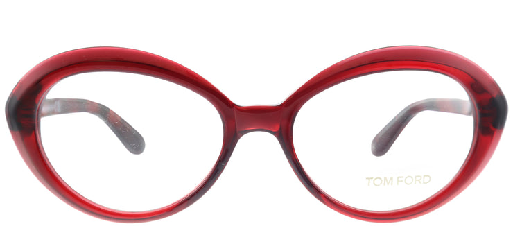 Tom Ford FT 5251 071 Oval Plastic Burgundy/ Red Eyeglasses with Demo Lens