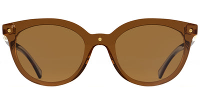 Privé Revaux The Casablanca Round Plastic Brown Sunglasses with Brown Mirror Polarized Lens
