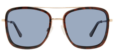 Privé Revaux The Vibe Square Plastic Tortoise/Havana Sunglasses with Blue Gradient Polarized Lens