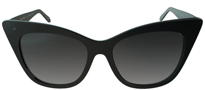 Privé Revaux The Mister Cat-Eye Plastic Black Sunglasses with Grey Gradient Polarized Lens