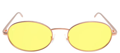 Privé Revaux The Candy Oval Metal Gold Sunglasses with Yellow Polarized Lens