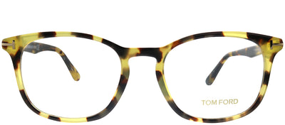 Tom Ford FT 5505 053 Square Plastic Tortoise/ Havana Eyeglasses with Demo Lens
