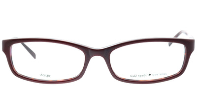 Kate Spade KS Narcisa W73 Rectangle Plastic Burgundy/ Red Eyeglasses with Demo Lens