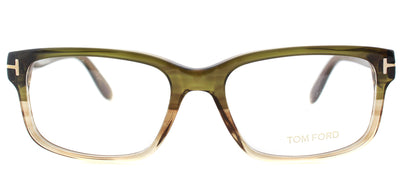 Tom Ford FT 5313 098 Rectangle Plastic Green Eyeglasses with Demo Lens