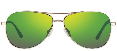 Revo RE 1014 04 GN Aviator Metal Gold Sunglasses with Green Water Polarized Lens