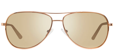 Revo RE 1014 14 CH Aviator Metal Gold Sunglasses with Champagne Polarized Lens