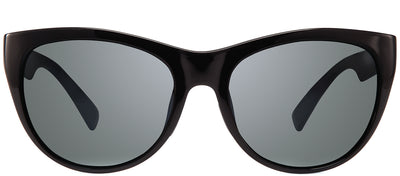 Revo RE 1037 01 GY Cat-Eye Plastic Black Sunglasses with Graphite Polarized Lens