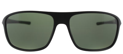 TAG Heuer TAG 6041 301 Rectangle Plastic Black Sunglasses with Green Polarized Lens