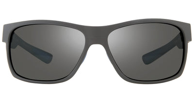 Revo RE 1097 00 GY Rectangle Plastic Grey Sunglasses with Graphite Polarized Lens
