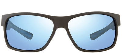 Revo RE 1097 01 BL Rectangle Plastic Black Sunglasses with Blue Water Polarized Lens