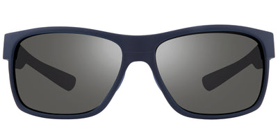 Revo RE 1097 05 GY Rectangle Plastic Blue Sunglasses with Graphite Polarized Lens