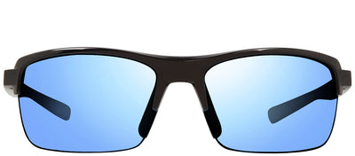 Revo RE 4066 21 BL Rectangle Plastic Black Sunglasses with Blue Water Polarized Lens