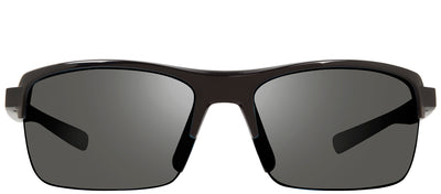 Revo RE 4066 21 GY Rectangle Plastic Black Sunglasses with Graphite Polarized Lens