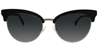 Fendi FF 0229 807 9O Round Plastic Black Sunglasses with Grey Gradient Lens