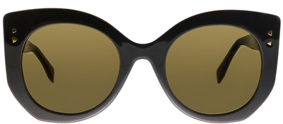 Fendi FF 0265 09Q LC Butterfly Plastic Brown Sunglasses with Brown Lens