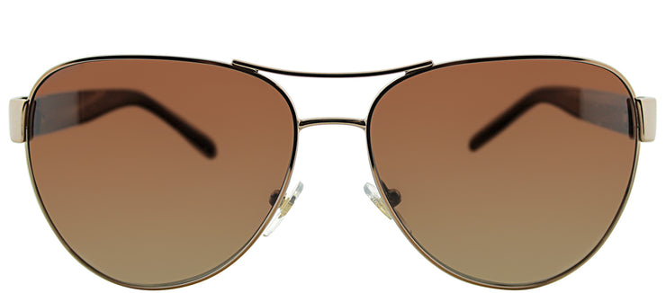 Tory Burch TY 6051 3198T5 Aviator Metal Gold Sunglasses with Brown Gradient Polarized Lens