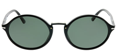 Persol PO 3208S 95/58 Round Plastic Black Sunglasses with Grey Lens