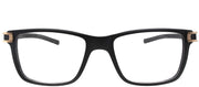 Tag Heuer TAG 7603 008 Rectangle Plastic Black Eyeglasses with Demo Lens