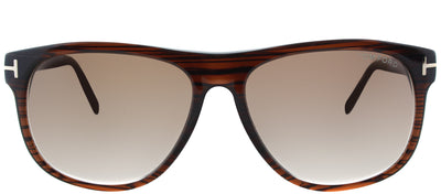 Tom Ford Olivier TF 236 50P Square Plastic Brown Sunglasses with Brown Gradient Lens