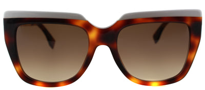 Fendi FF 0087 CUM Square Plastic Brown Sunglasses with Brown Gradient Lens
