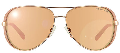 Michael Kors Chelsea MK 5004 1017R1 Aviator Metal Gold Sunglasses with Rose Gold Mirror Lens