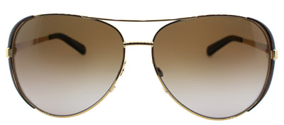 Michael Kors Chelsea MK 5004 1014T5 Aviator Metal Gold Sunglasses with Brown Polarized Lens