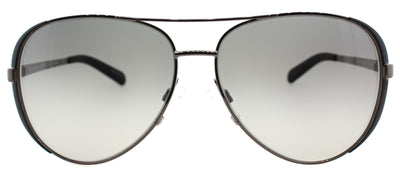 Michael Kors Chelsea MK 5004 101311 Aviator Metal Ruthenium/ Gunmetal Sunglasses with Grey Gradient Lens