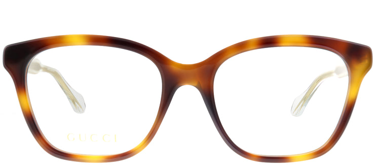 Gucci GG 0566O 002 Square Plastic Tortoise/ Havana Eyeglasses with Demo Lens