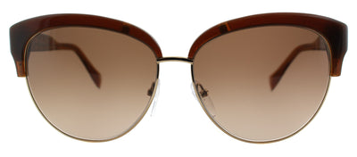 Pucci EP 724S 210 Cat-Eye Plastic Brown Sunglasses with Brown Gradient Lens