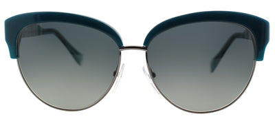 Pucci EP 724S 425 Cat-Eye Plastic Blue Sunglasses with Grey Gradient Lens