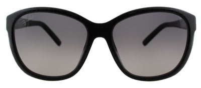 Pucci EP 738S 001 Cat-Eye Plastic Black Sunglasses with Grey Gradient Lens